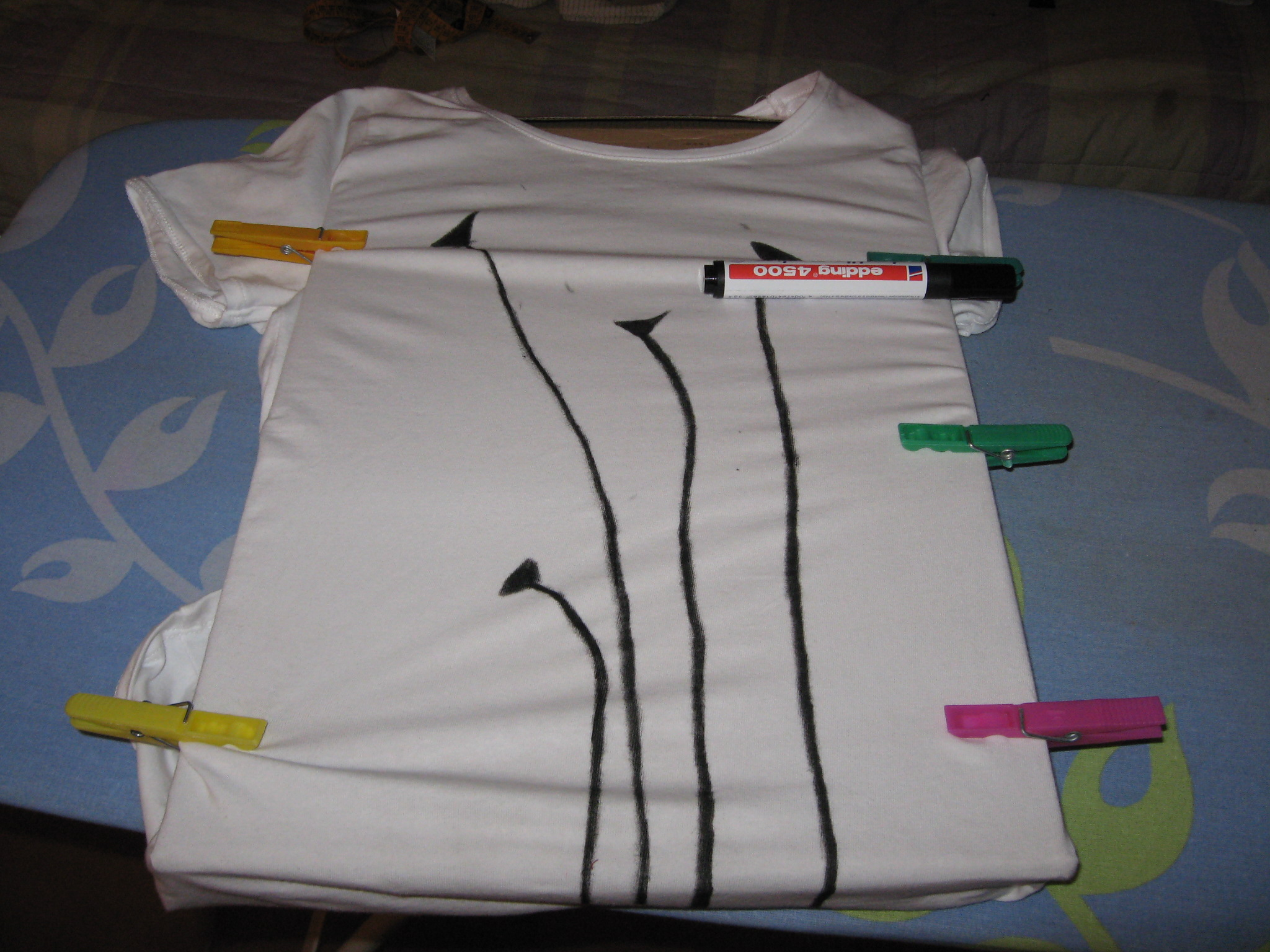 tutorial camiseta amapolas