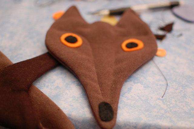 patrón bufanda zorro
