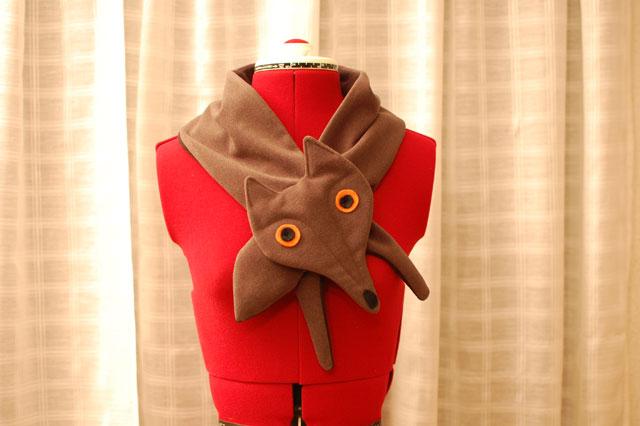 patrón bufanda zorro para niños