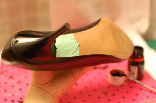 Tutorial teñir zapatos