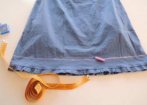 Como puedo alargar un vestido corto