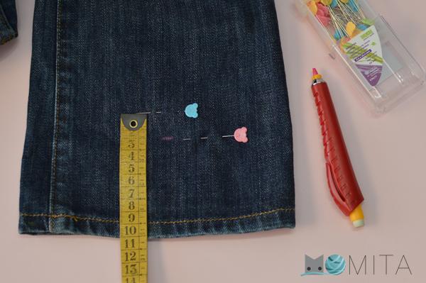 coser bajo tejanos