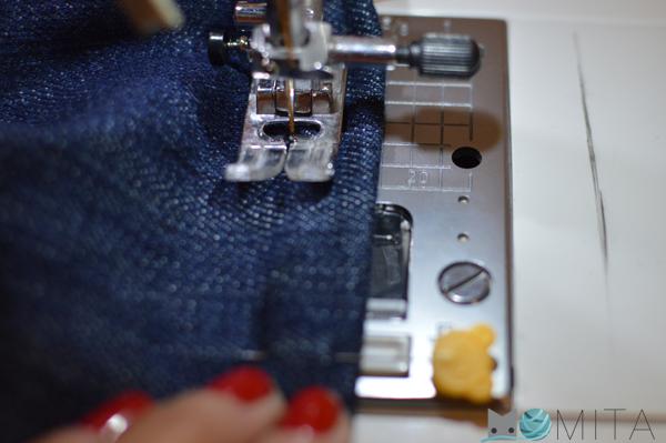 coser bajo torzal