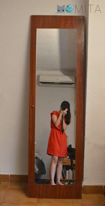 reciclar una puerta de armario con espejo