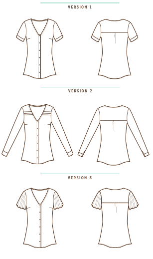 Aster blouse patterns