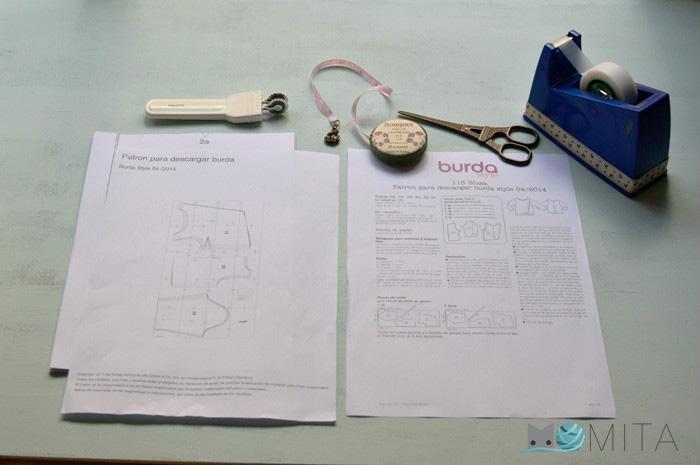 Cómo imprimir y montar patrón pdf