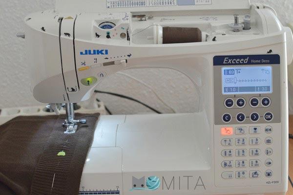 enhebrado de la maquina de coser
