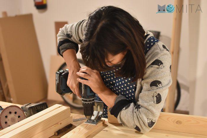 Montar mesa para la máquina de coser
