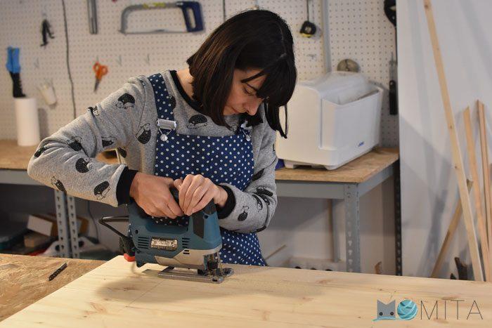 cortar mesa para maquina de coser domestica
