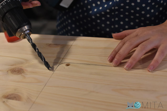 Bricolaje, mesa de madera para máquina de coser