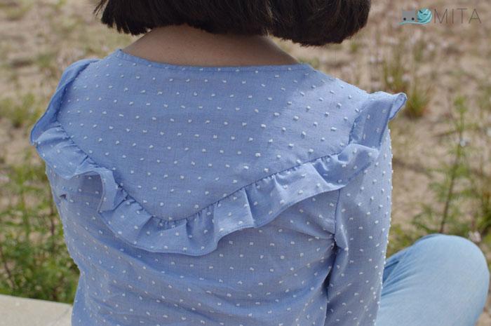 blusa volante espalda