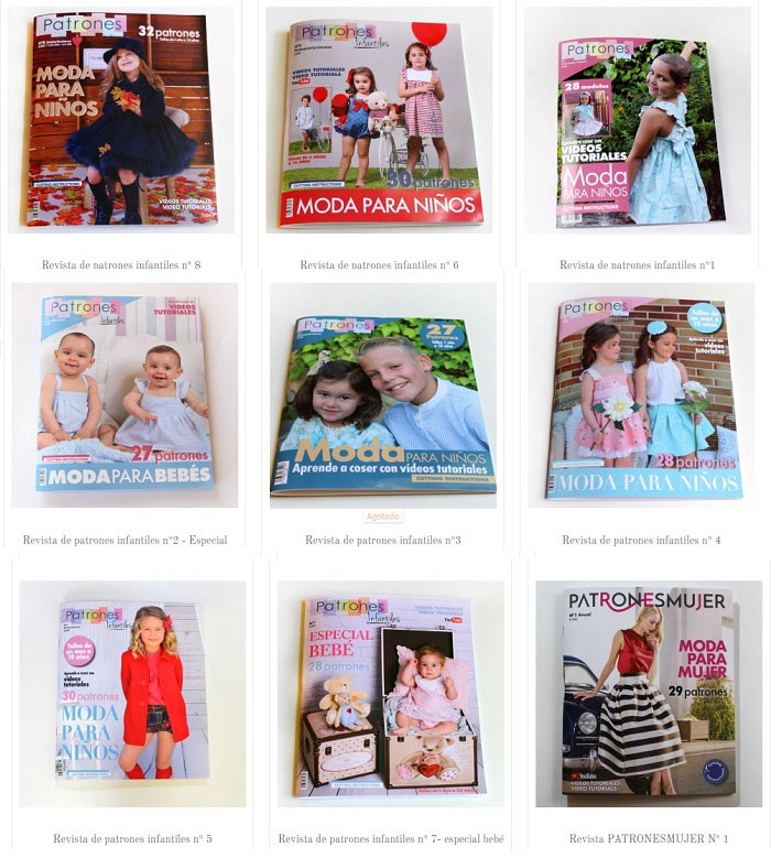 revistas con patrones de ropa de niños