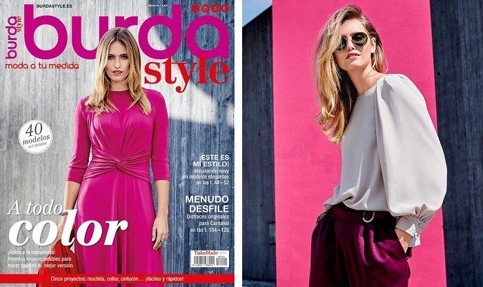 Portada revista Burda style 01/18