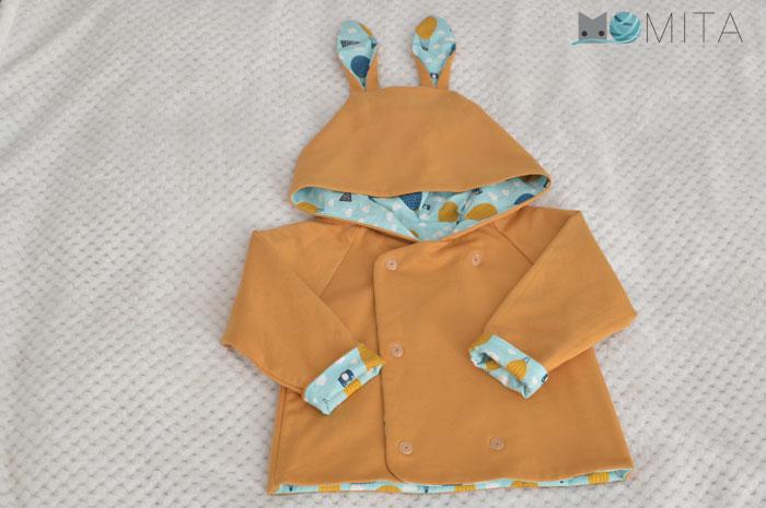 patrón de abrigo niño
