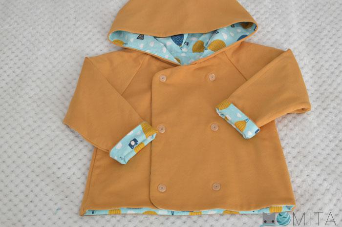 coser abrigo bebé