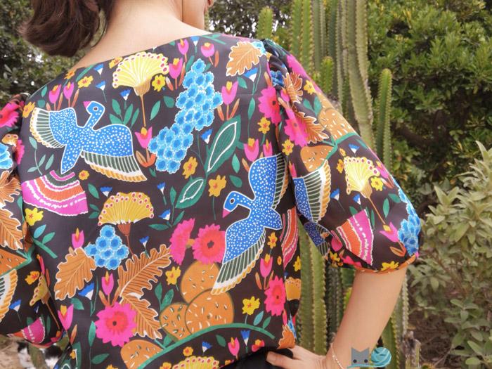 coser patrón mangas fruncidas