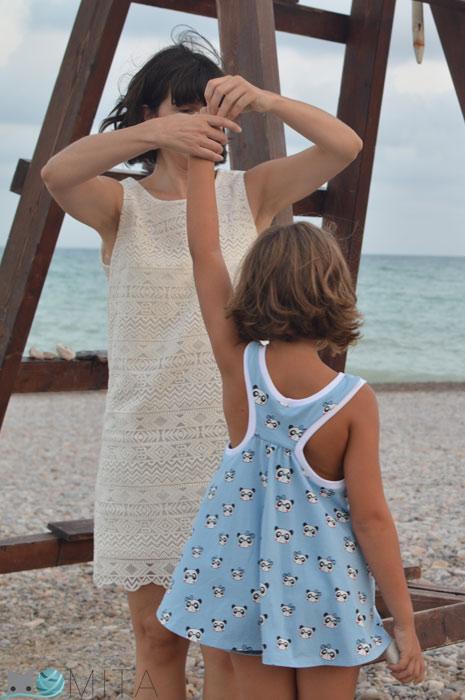 coser camiseta de niña