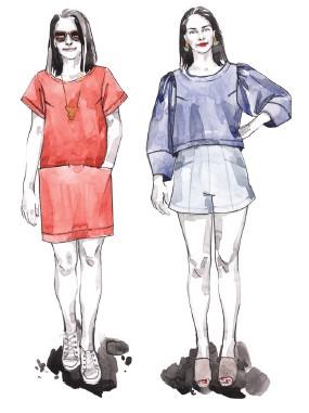 patron blusa y vestido