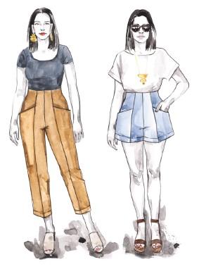 patrón pantalón